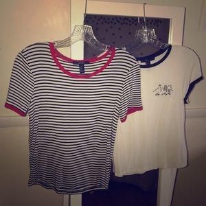 2 basic t-shirts